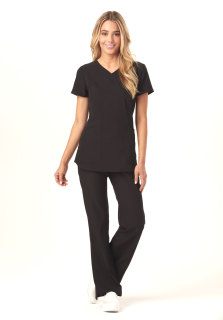 HS619 Mock Wrap Top-