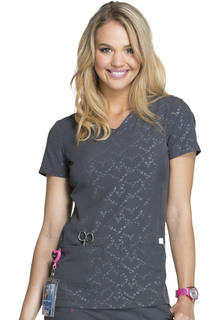 HS627 V-Neck Top-Heartsoul