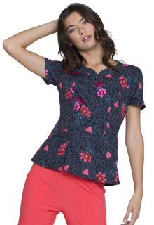 Valentine HeartSoul Prints Shaped V-Neck Top - HS671-Heartsoul