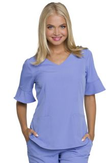 HS740 Mock Wrap Top-