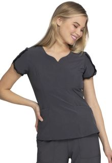 HeartSoul V Notch Neck Top-Heartsoul