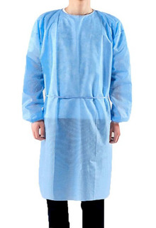 Box of 100 Unisex Disposable Isolations Gowns-PPE