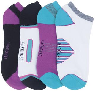 1-4pr packs of No Show Socks Assorted