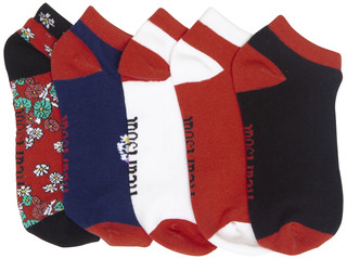 1-5pr Pk of No Show Socks-