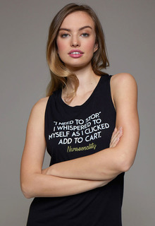 "DEAL - Women's Extra Soft Muscle Message Tank ""I Need To Stop""-"