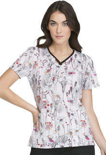 RW607 V-Neck Top-Cherokee Medical