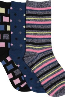 SHAPEITUP 1-3pr pack of Crew Socks-