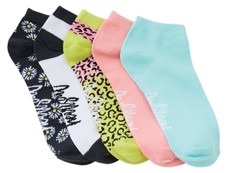 SHOWMENOT 1-5pr Pk No Show Socks-