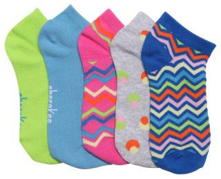 SPRINGFEVER 6-5pr packs of No Show Socks-