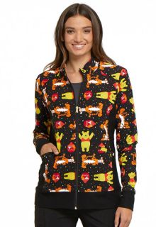 A Bear Likes Honey - Winnie The Poo & Tigger Print Warm Up Jacket-Tooniforms