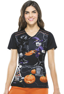 Mickey Mouse Halloween V-Neck Top-Tooniforms