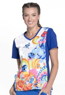 Tooniforms Medical Tooniforms, Disney, Halloween Holiday Top TF627 V-Neck Top-Tooniforms