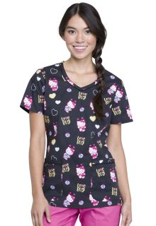 Tooniforms Print V-Neck Top - TF633-