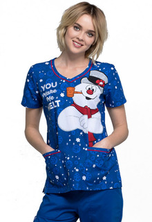 Tooniforms Medical Disney Tooniforms for Winter TF634 V-Neck Top-Tooniforms