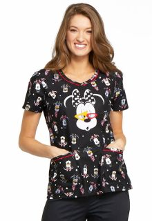 Tooniforms Print V-Neck Top - TF634-Tooniforms
