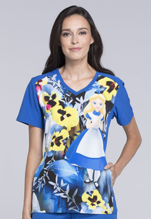 Tooniforms Medical Tooniforms Disney Top TF637 V-Neck Top-Tooniforms
