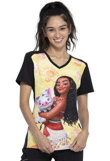 TF637 - Disney + Print Top by Tooniforms-Tooniforms