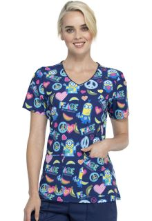 Peace - Love And Bananas V-Neck Print Top-Tooniforms