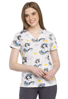 Tooniforms Print V-Neck Top - TF666-