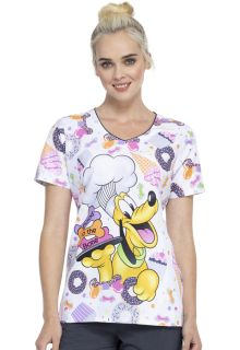 Tooniforms Print V-Neck Top-Tooniforms