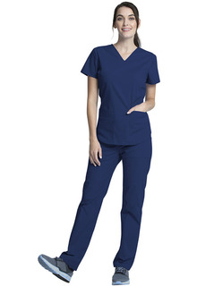 V-Neck Top And Drawstring Pant Set-Vital Threads