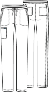 WW105 Mid Rise Tapered Leg Drawstring Pant-Cherokee Workwear