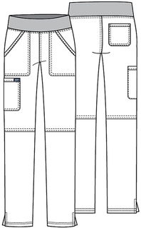 WW110 Mid Rise Straight Leg Pull-on Pant-Cherokee Workwear