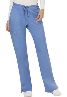 WW120 Mid Rise Moderate Flare Drawstring Pant-Cherokee Workwear