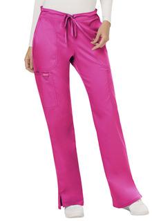 Revolution Ladies Mid Rise Moderate Flare Drawstring Pant - Workwear WW120-Cherokee Workwear