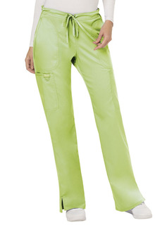 Mid Rise Moderate Flare Drawstring Pant-Cherokee Workwear