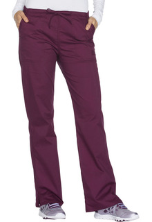 Core Mid Rise Straight Leg Drawstring Pant-Cherokee Workwear