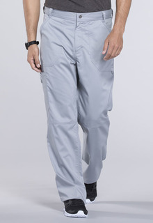 Revolution Men's Fly Front Inside Drawstring/Back Elastic Cargo Scrub Pants - Workwear WW140