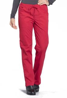 Pro Mid Rise Straight Leg Drawstring Pant-Cherokee Workwear