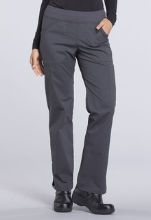 Mid Rise Straight Leg Pull-on Cargo Pant-Cherokee Workwear