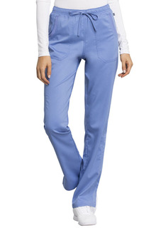 Tech NEW Mid Rise Straight Leg Drawstring Pant - Antimicrobial w/Fluid Barrier-Cherokee Workwear