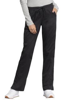 WW235AB Mid Rise Straight Leg Drawstring Pant-Cherokee Workwear