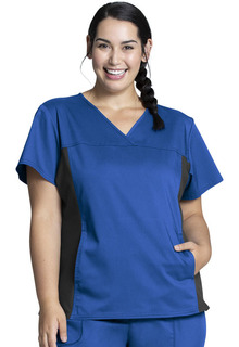 Revolution NEW Knit Panel Scrub Top-Cherokee Workwear