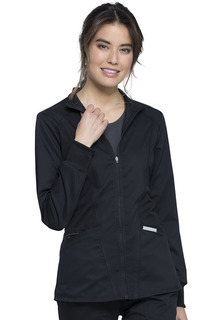 Zip Front High-Low Jacket-Cherokee Workwear
