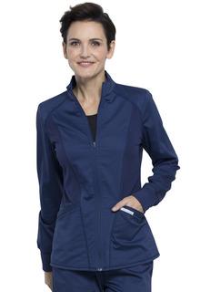 Zip Front High-Low Jacket-Cherokee Workwear