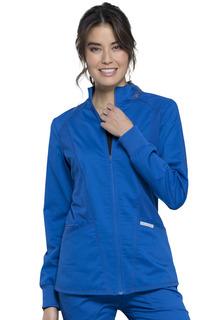 Revolution Zip Front Hi-Low Jacket-Cherokee Workwear