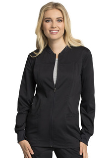 WW305AB Zip Front Warm-Up Jacket-Cherokee Workwear