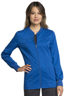 Tech Zip Front Warm-Up Jacket - Antimicrobial w/Fluid Barrier-Cherokee Workwear