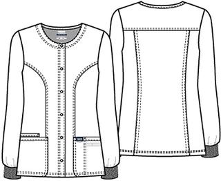 WW310 Snap Front Warm-up Jacket-Cherokee Workwear