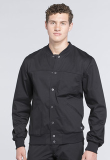 Cherokee WorkWear Core Stretch Men's Snap Front Warm-Up Scrub Jacket-WW330-Cherokee Workwear