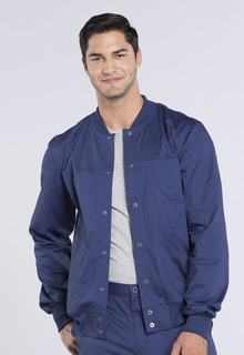 Core Men's Snap Front Warm-up Scrub Jacket - Workwear WW330-Cherokee Workwear