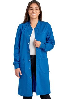 """Tech Unisex 40"""" Snap Front Lab Coat - Antimicrobial w/Fluid Barrier-Cherokee Workwear"""