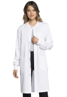 "Cherokee Workwear Revolution Tech Unisex 40"" Snap Front Lab Coat-WW350AB-Cherokee Workwear"