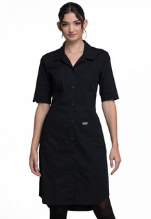 Cherokee Workwear Professionals Button Front Dress-Cherokee Workwear