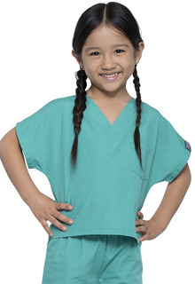 DEAL - Kids Scrub Set in Surgical Green-Cherokee Workwear