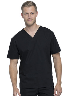 Unisex Pocketless V-Neck Top-